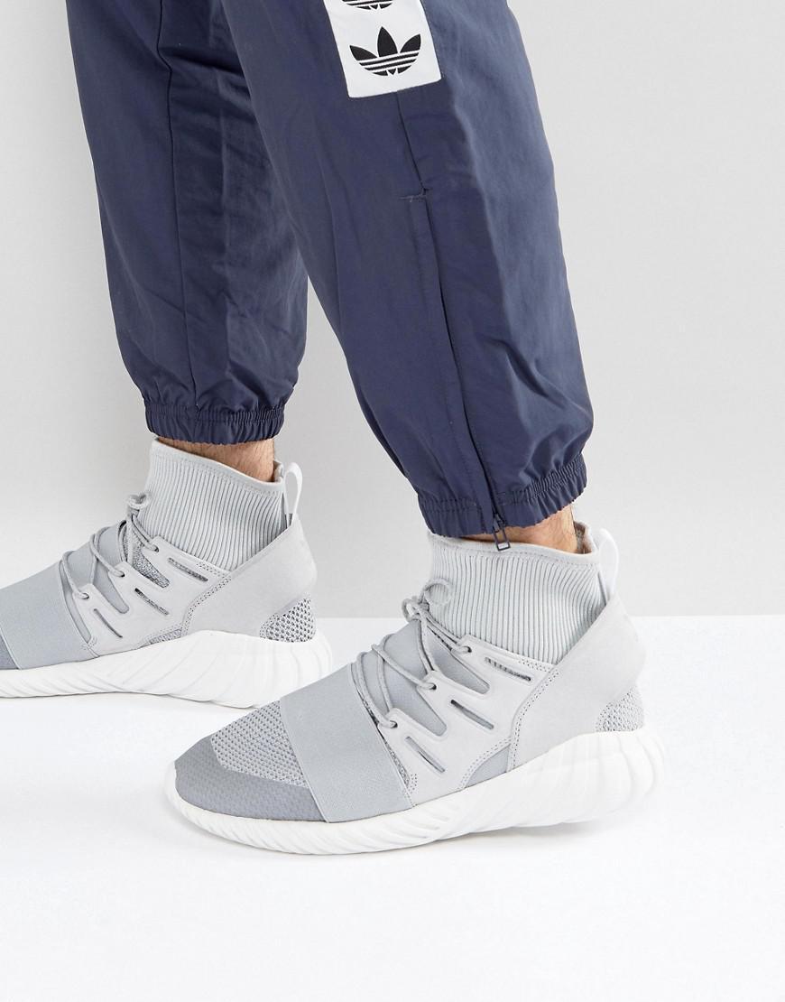 82cdafdd69c4 adidas Originals Tubular Doom Winter Sneakers In Gray By8701 in Gray ...