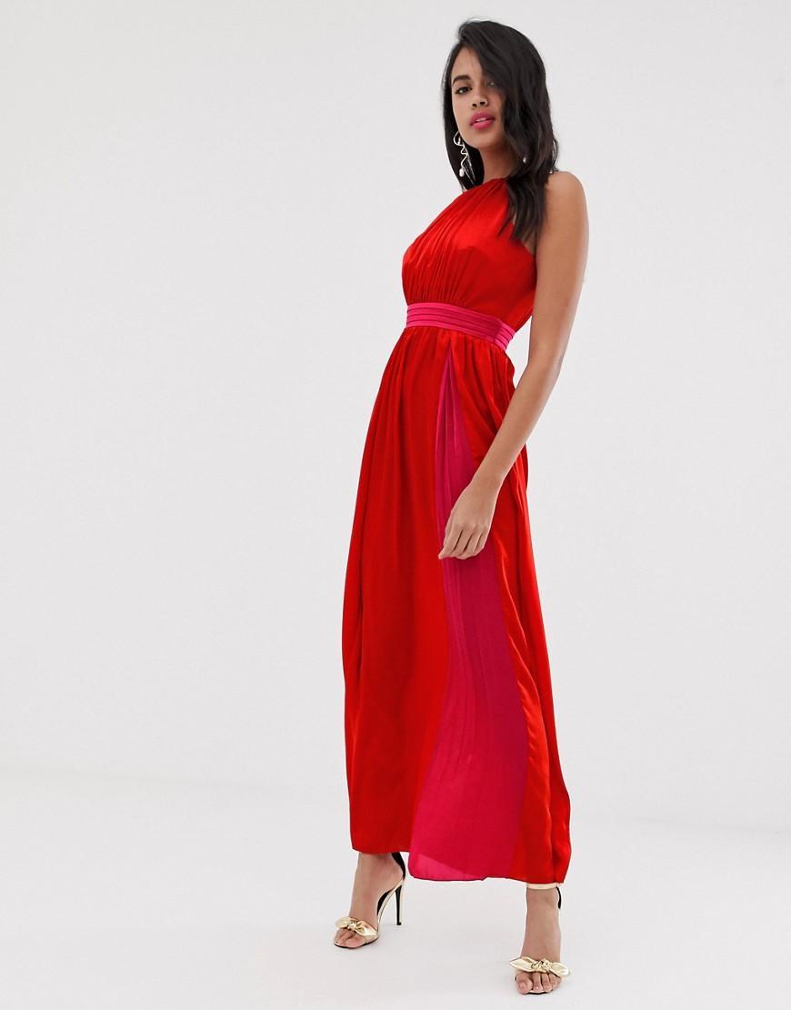d02b7e4cb9 Lyst - Little Mistress Sleeveless Maxi Dress in Red