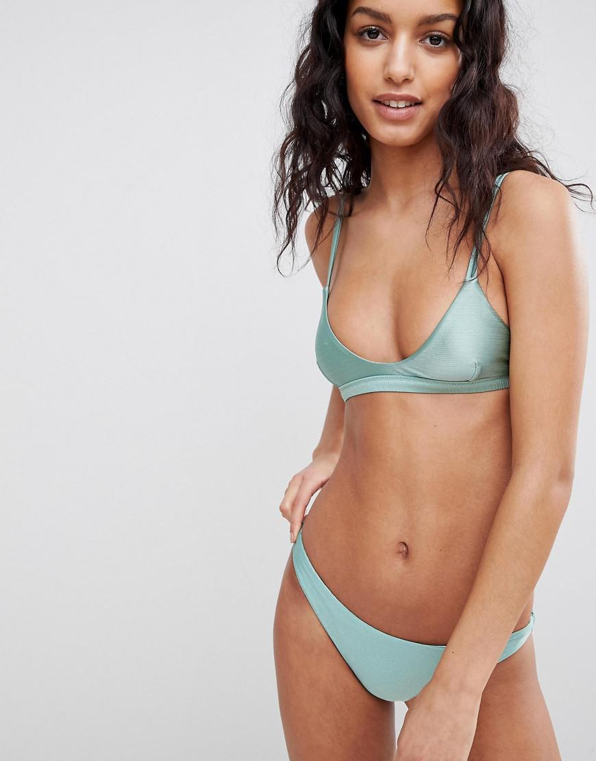 99f59fbcd7e51e Amuse Society Metallic Bralette Bikini Top in Green - Lyst