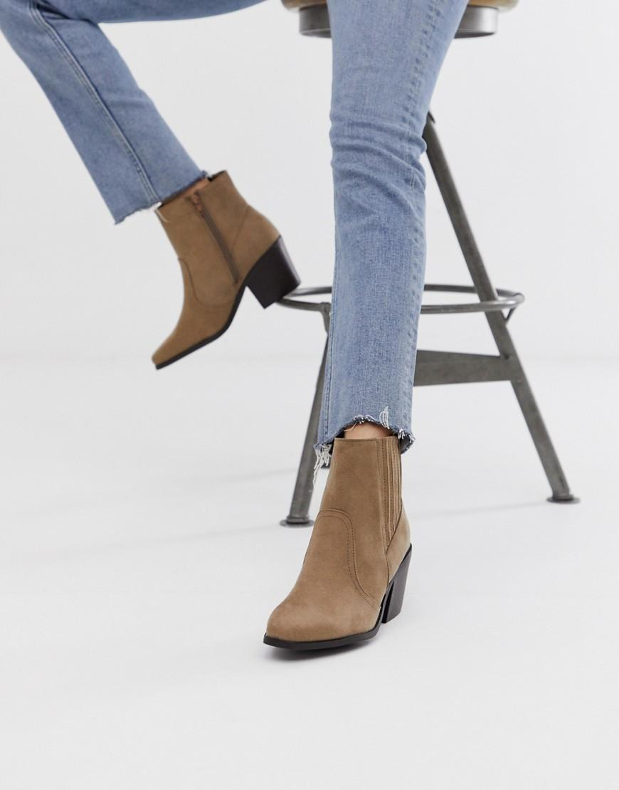6842625e610 New Look Western Heeled Boot In Light Brown in Brown - Lyst
