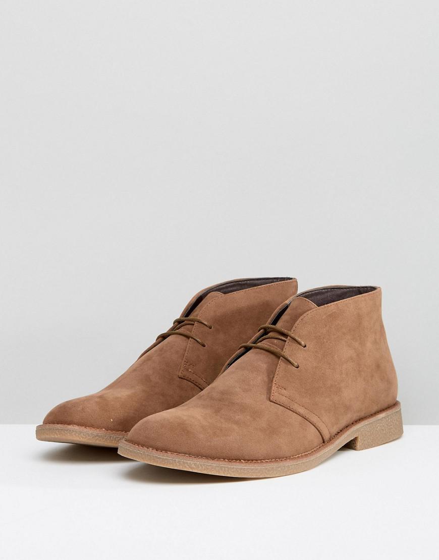 New Look Faux Suede Desert Boots In Tan H0eaBZFO