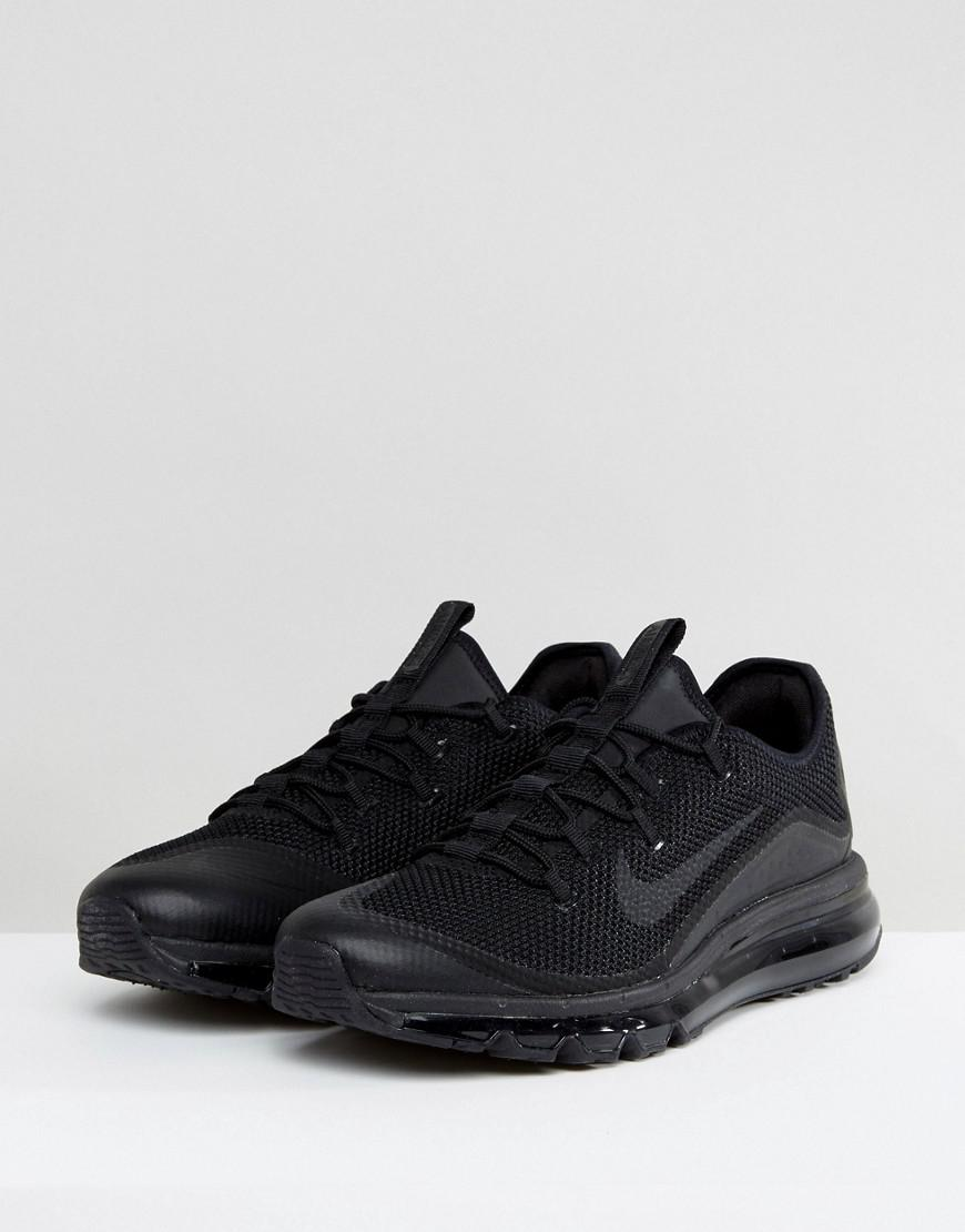 bb7445a278 Nike Air Max More Trainers In Black 898013-002 in Black for Men - Lyst