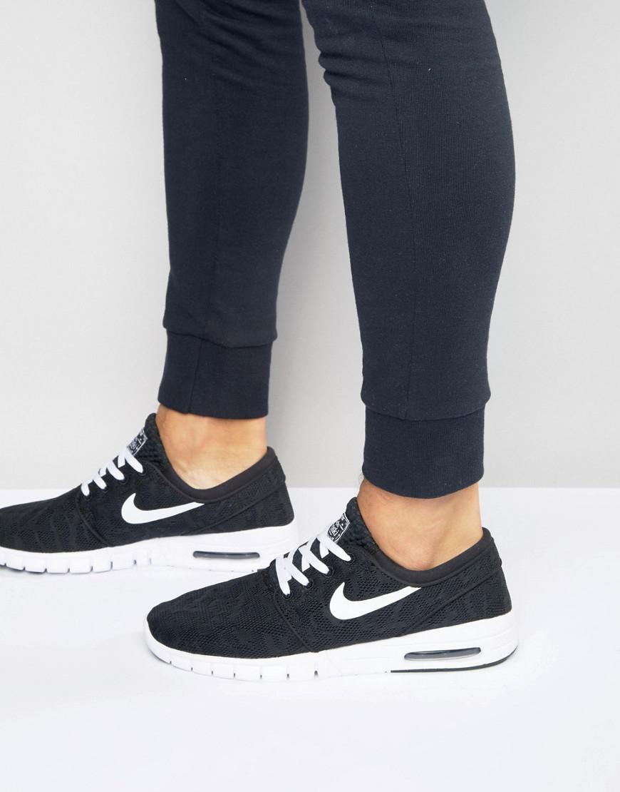 5b83d99a3285 Nike Stefan Janoski Max Trainers In Black 631303-010 in Black for ...