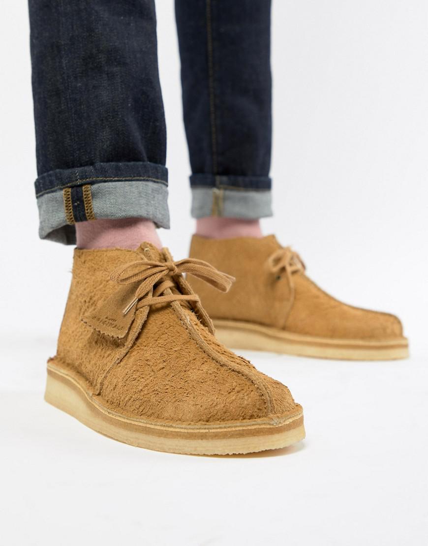 9608d09c4c1bfa Clarks Desert Trek Boots In Oak Suede in Natural for Men - Lyst