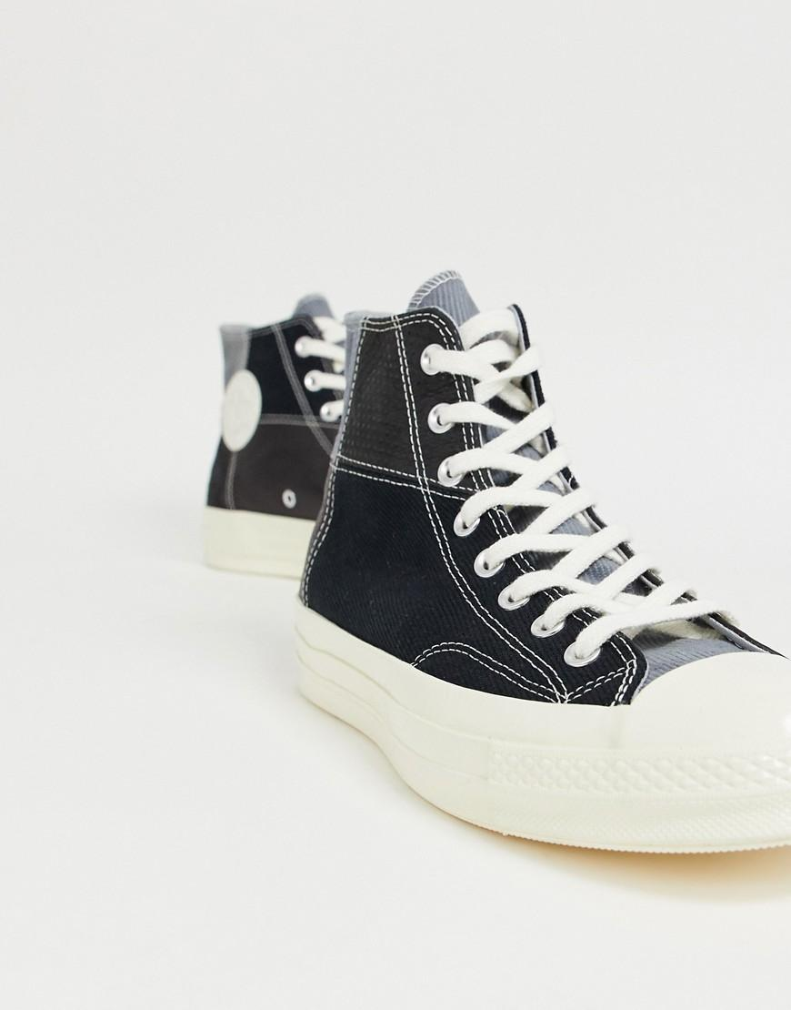 98365231ed23ef Lyst - Converse Chuck 70 Patchwork Plimsolls in Black for Men - Save 40%