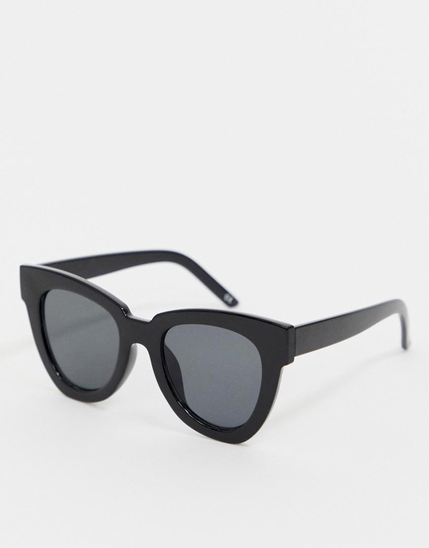 61b812e378 ASOS Chunky Flare Cat Eye Sunglasses in Black - Lyst
