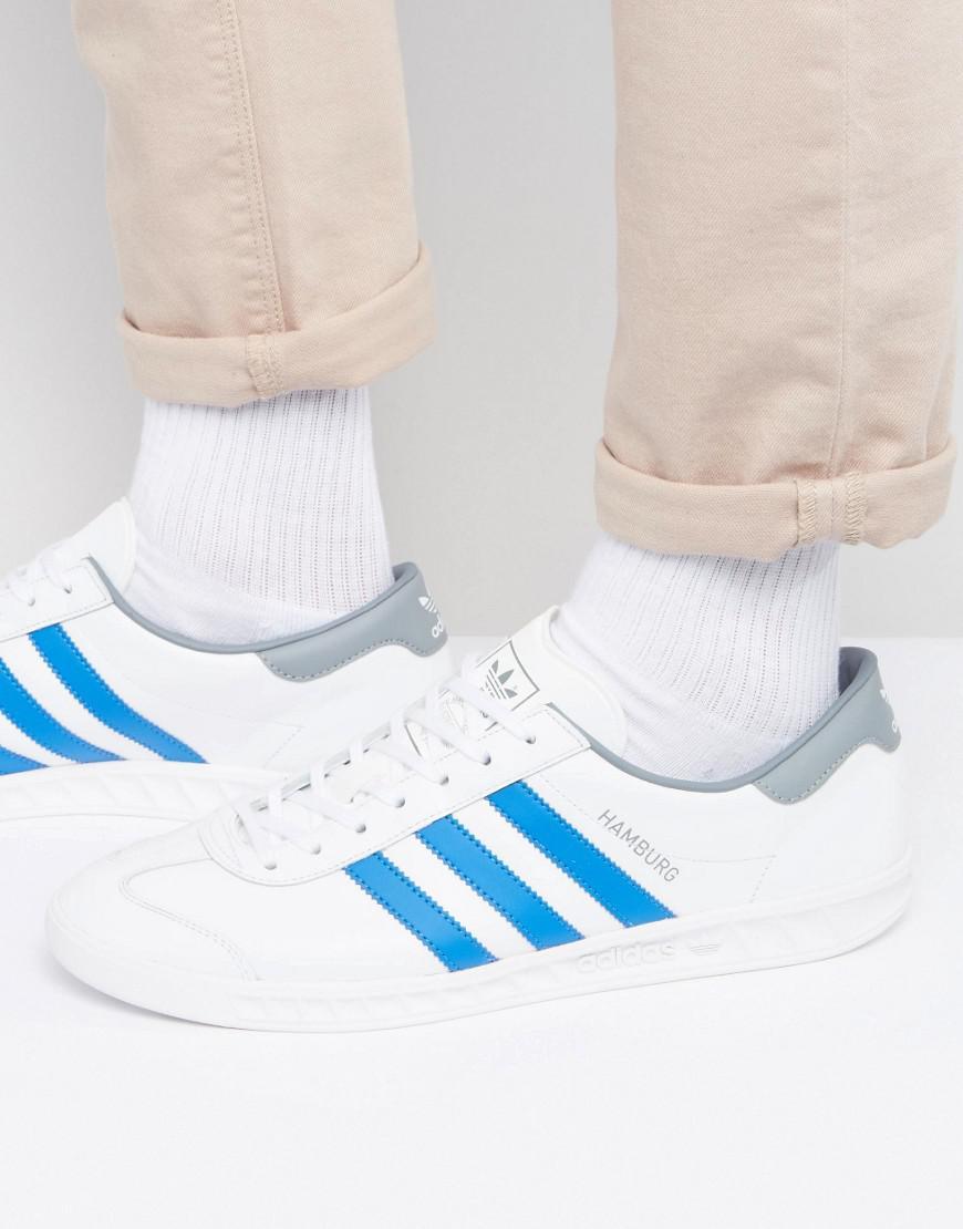 mens adidas white hamburg trainers