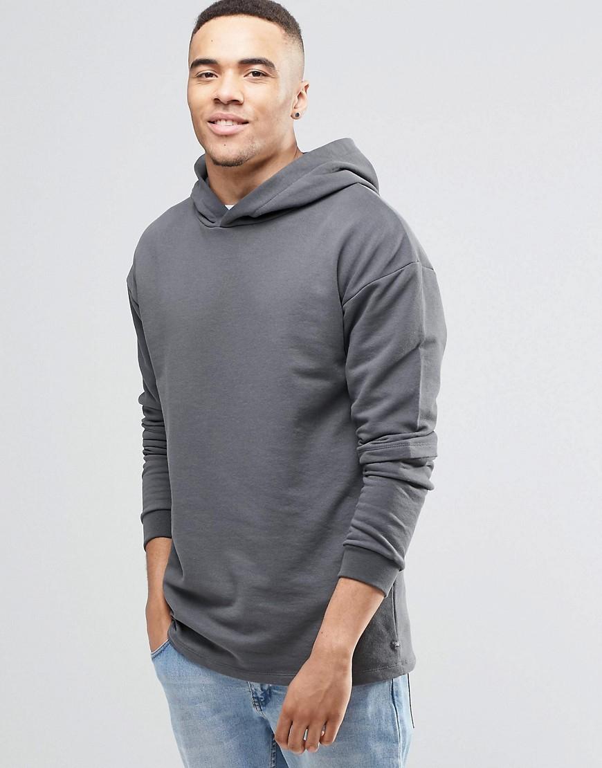 jack jones jack and jones hoodie with layered arm detail black in. Black Bedroom Furniture Sets. Home Design Ideas