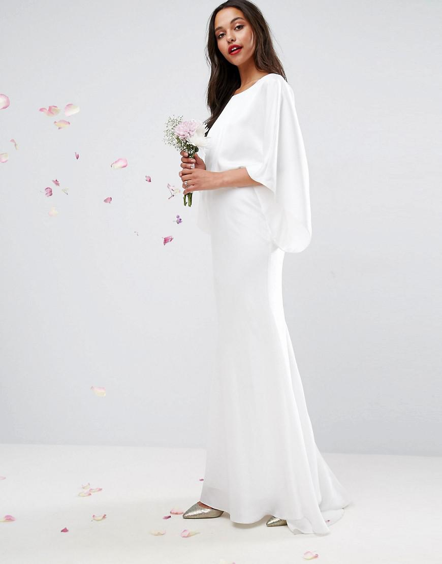 Lyst - Asos Deep Plunge Back Maxi Wedding Dress in White