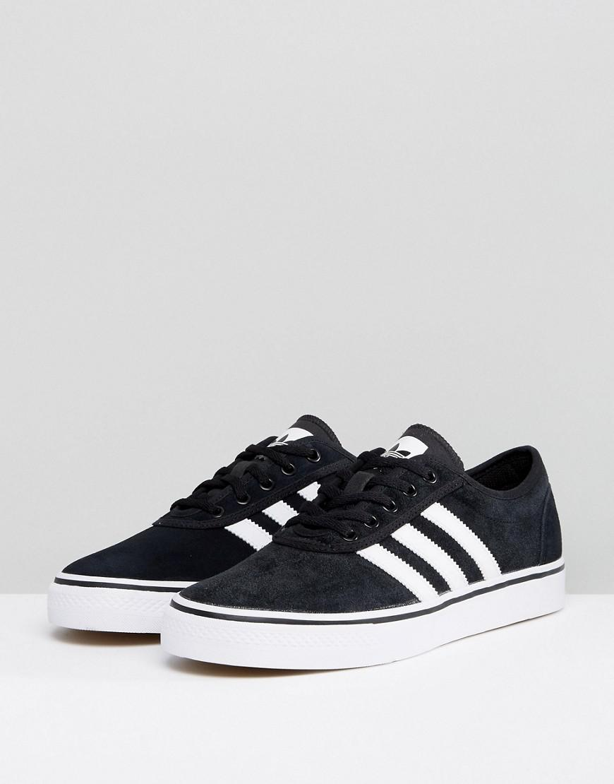 ddf32d4832e Lyst - adidas Originals Adi-ease Trainers In Black By4028 in Black for Men