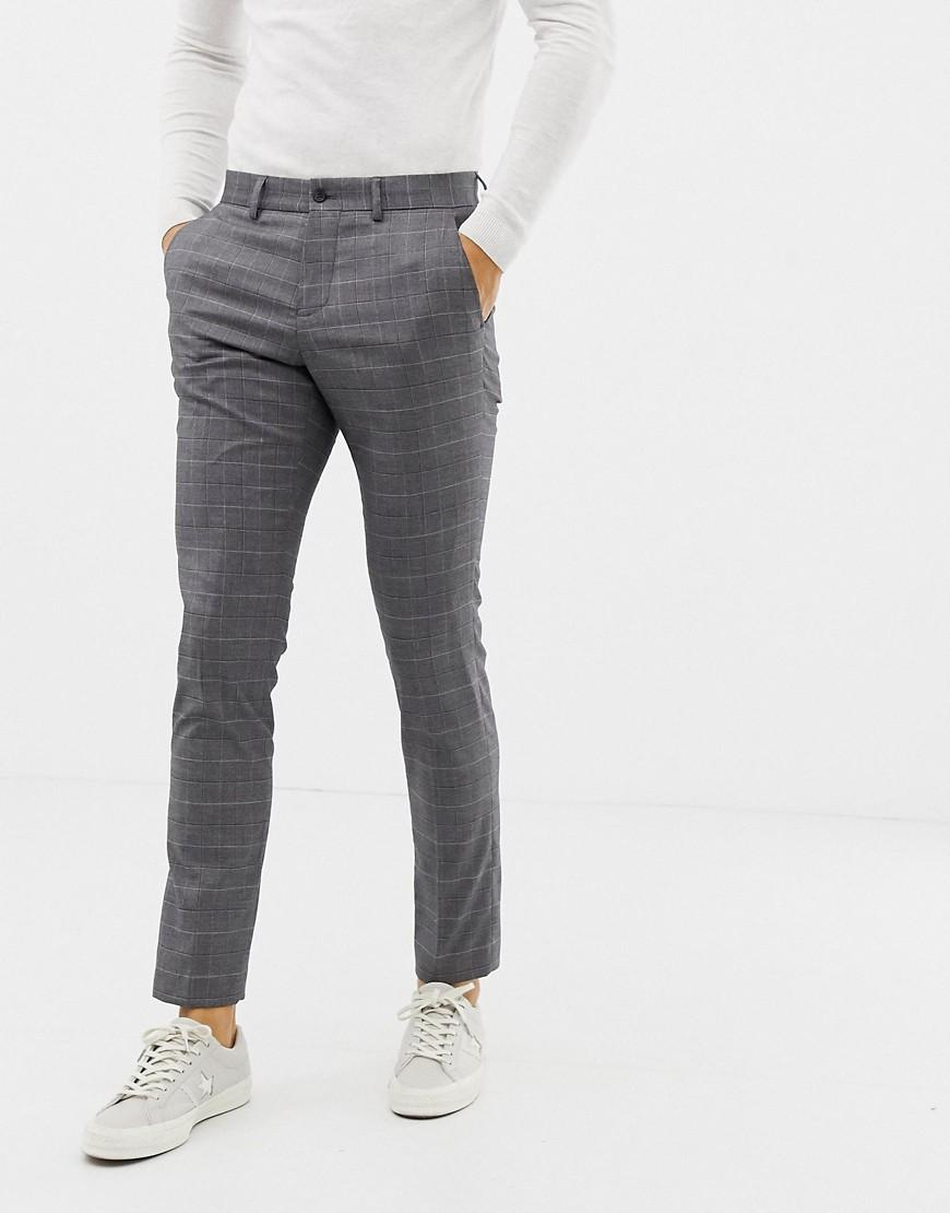 7910ce0e0dae Lindbergh - Gray Suit Pants In Grey Check for Men - Lyst. View fullscreen