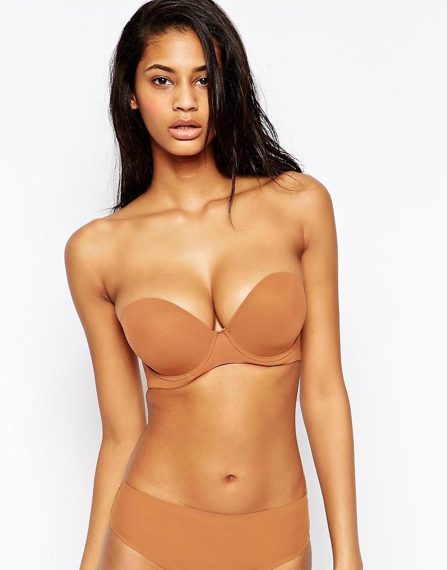 85b830d682 Lyst - Nubian Skin Strapless Convertible Bra in Brown
