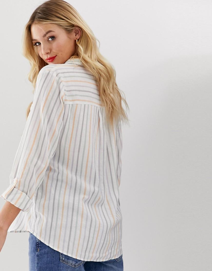 44c9cb2eff New Look Stripe Shirt In Multi in Gray - Lyst