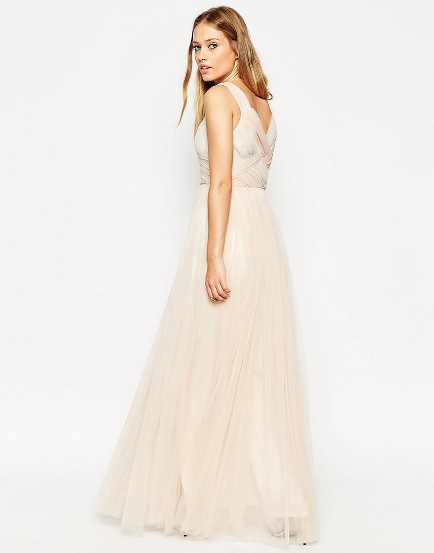 caa5b26e4b8 Lyst - Needle   Thread Grecian Wrap Tulle Maxi Dress in Pink