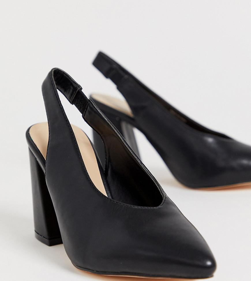 af356b62aff616 Lyst - Chaussures pointues talon carr pointure large London Rebel en ...
