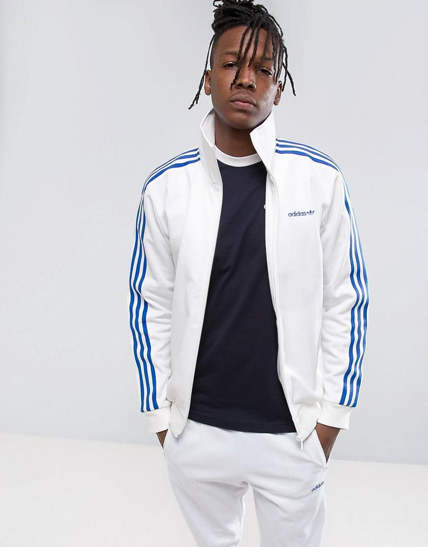 849802778df adidas Originals Osaka Beckenbauer Jacket In White Cv8956 in White ...