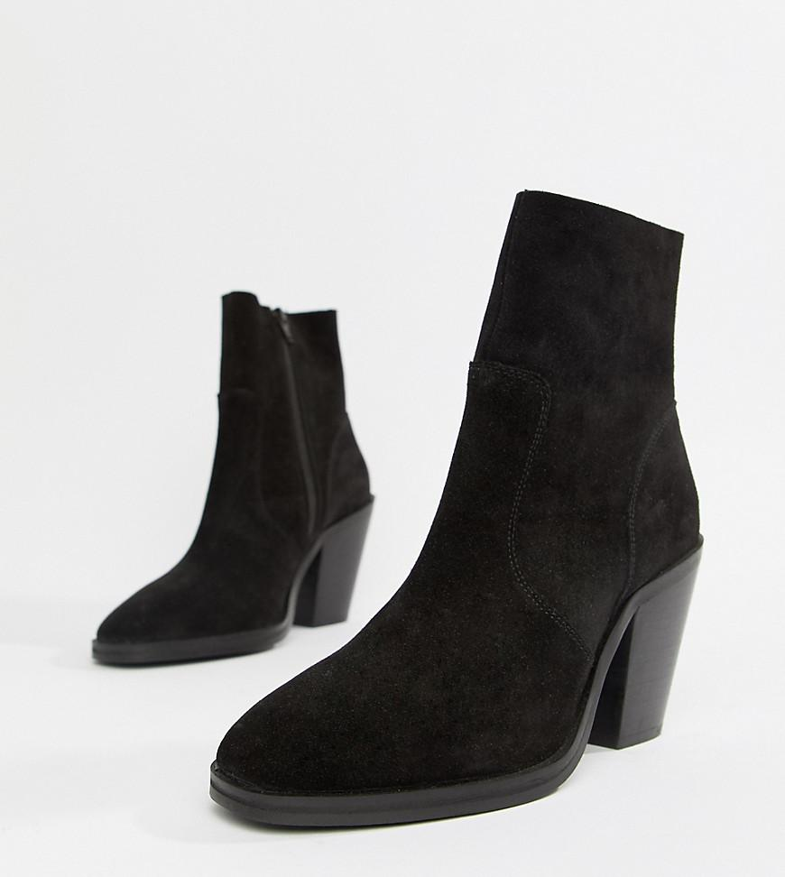 e09856ded40 Lyst - ASOS Espresso Suede Ankle Boots in Black