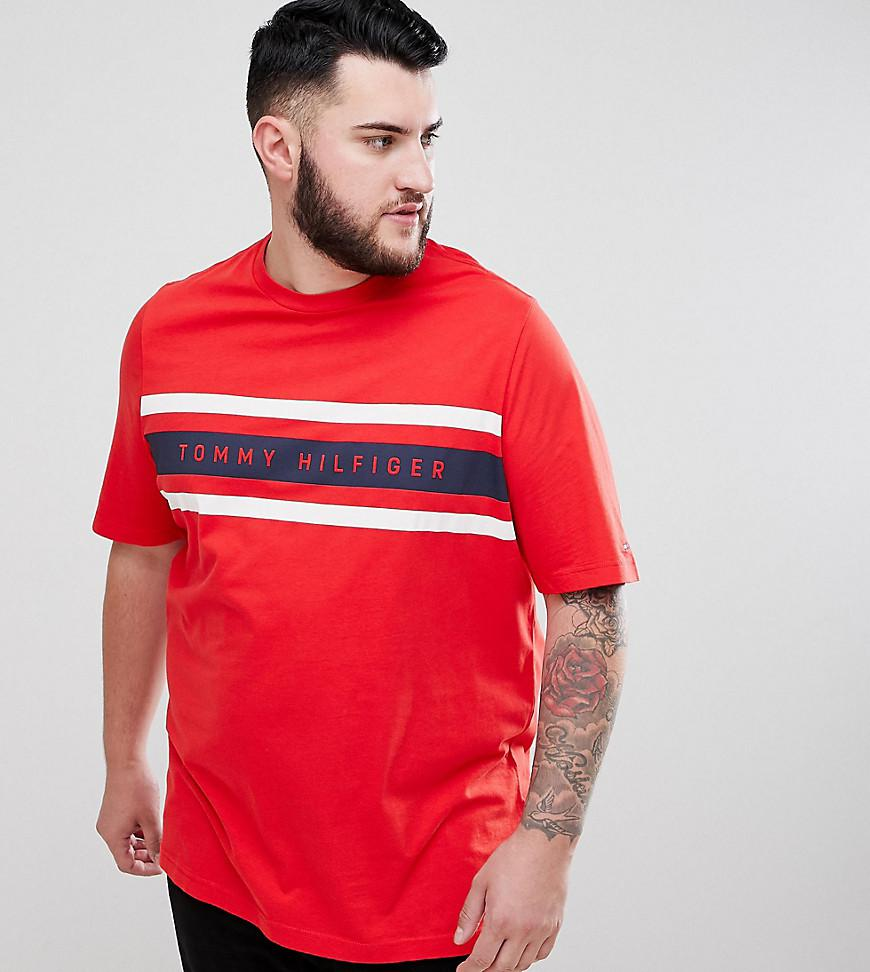 011d4f79 Tommy Hilfiger Big & Tall Icon Stripe Logo Print T-shirt In Red in ...