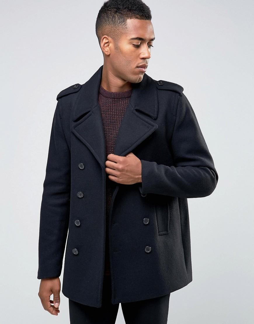 Mens Peacoat Find a coat that keeps you warm while tailoring to your lifestyle with a men's peacoat. A wool coat is a must-have for every man, and the many different types allow you to find the coat that is comfortable for you.