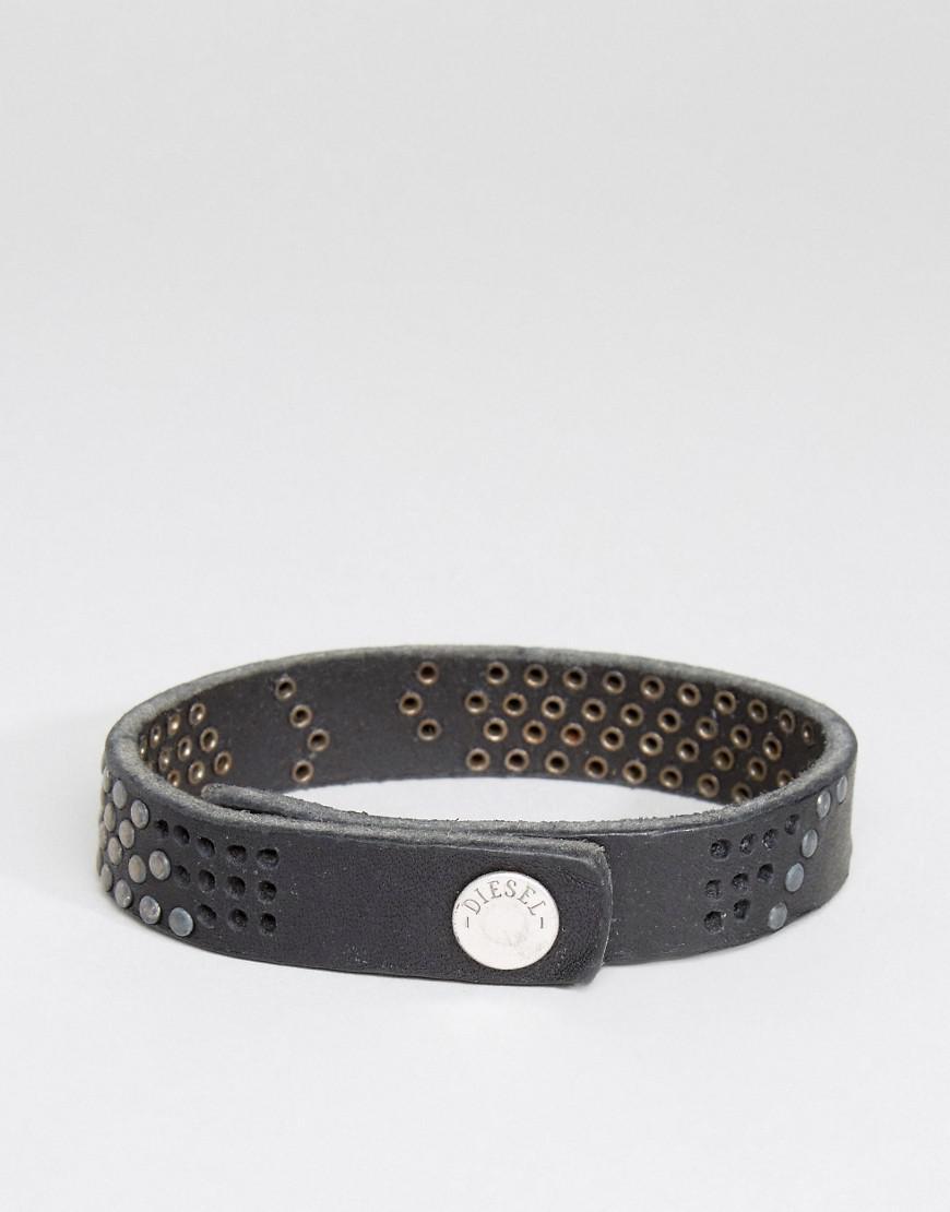 Diesel buckle embellished bracelet - Black 1z4WFKtCpF