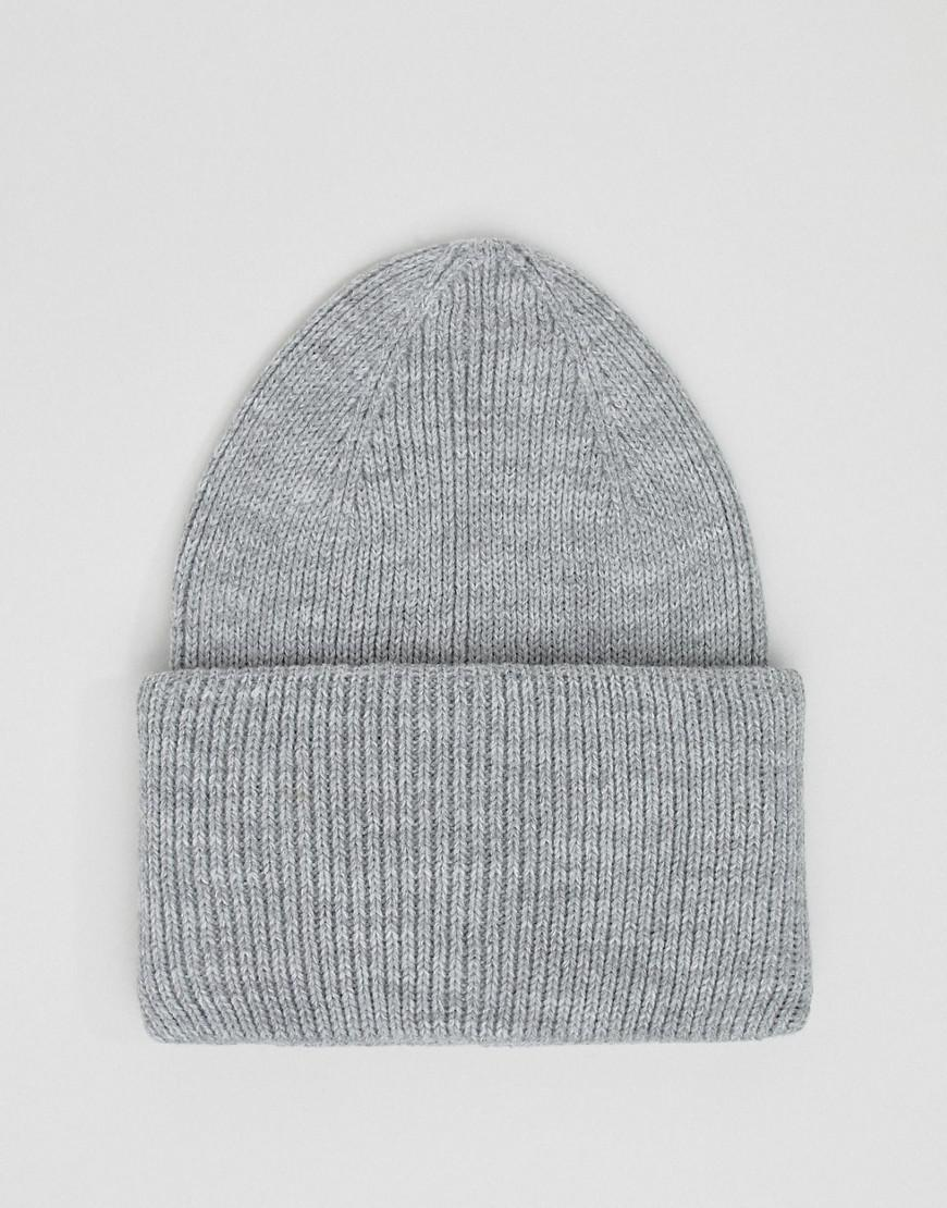 9a5a2ad656a Lyst - ASOS Oversized Beanie In Gray Marl in Gray for Men