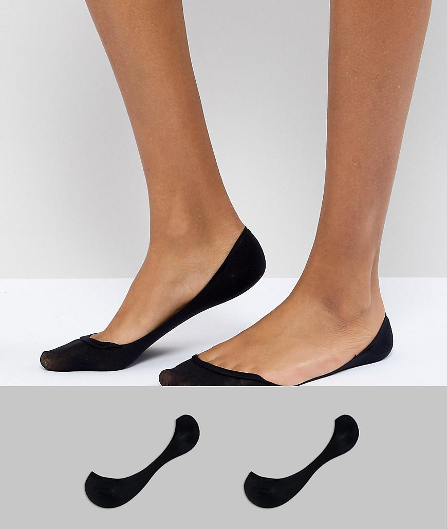 Clearance Official Site Top-Rated DESIGN 2 Pack Invisible Socks - Black Asos zcSltLWpex