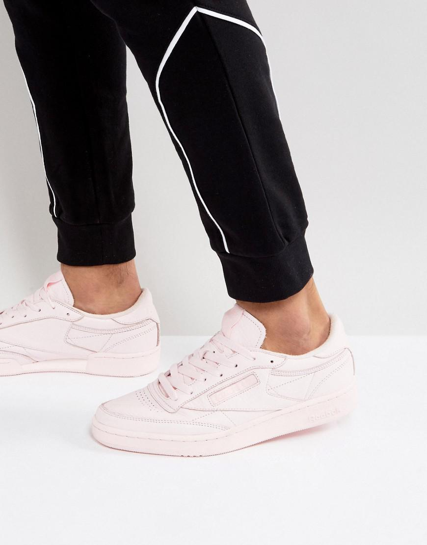 18bedac2712d Reebok Club C 85 Elm Trainers In Pink Bs5216 in Pink for Men - Lyst