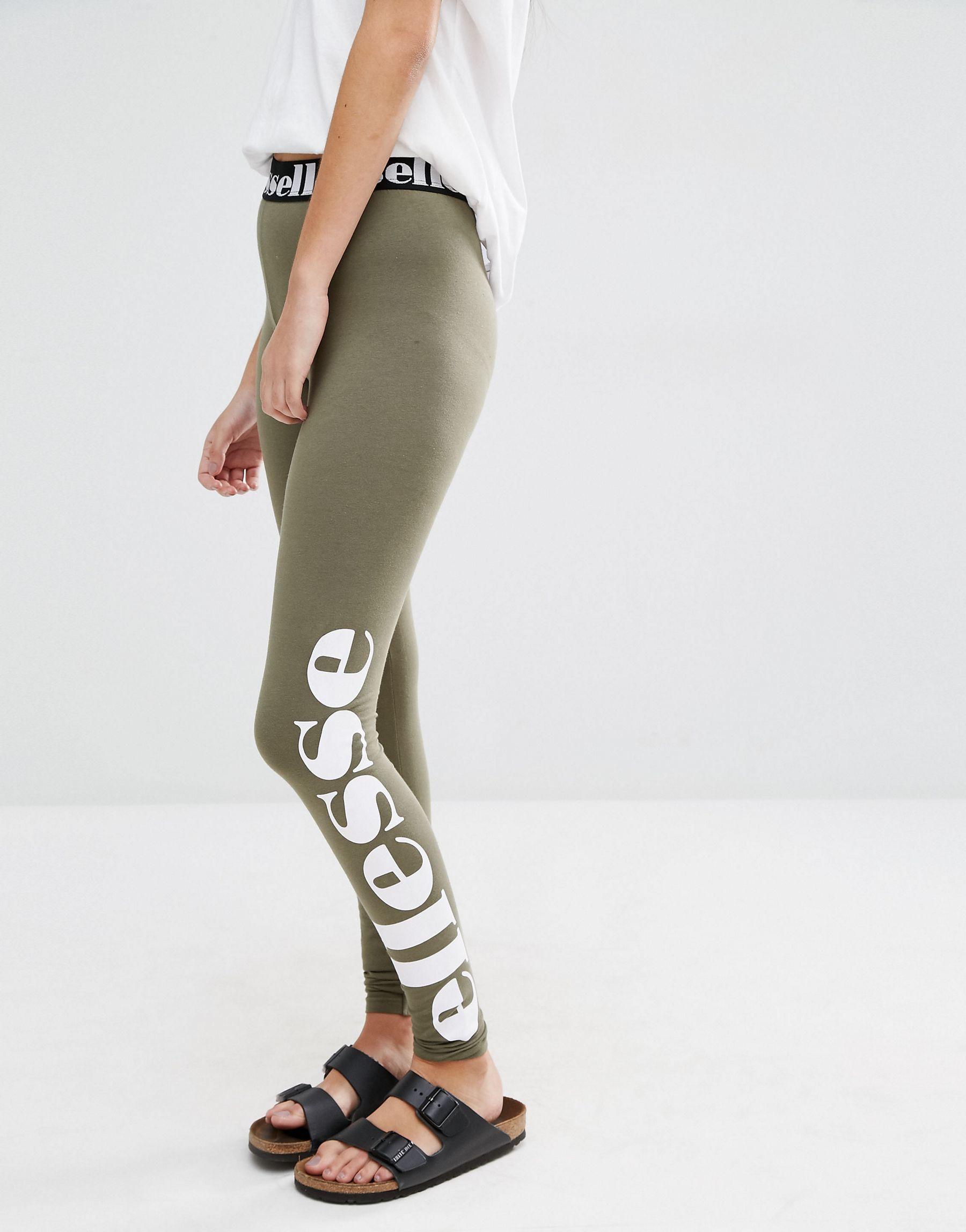 lyst ellesse leggings with side logo print