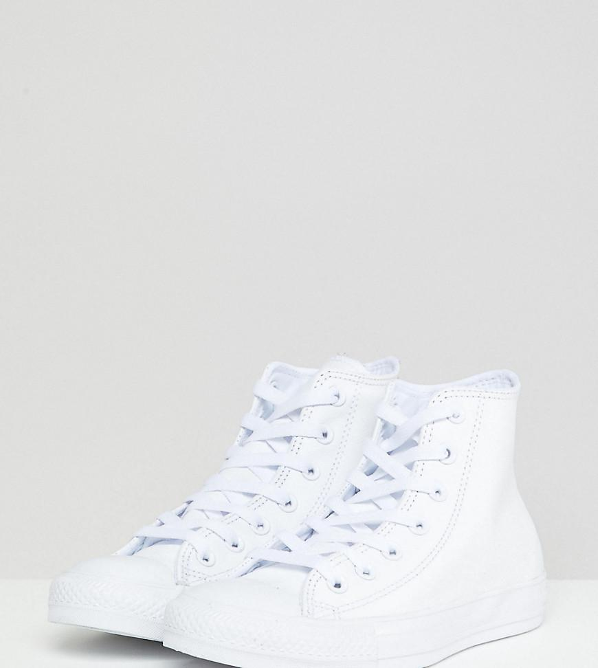 ab52a7ef621c Converse Chuck Taylor White Leather High Top Sneakers in White - Lyst