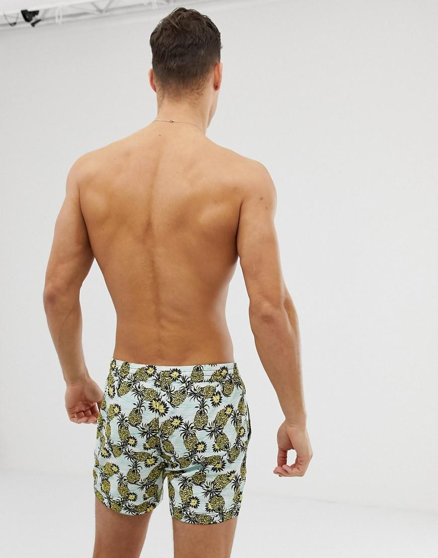 82b5a90f59 Lyst - South Beach Recycled Swim Shorts In Pineapple Print for Men
