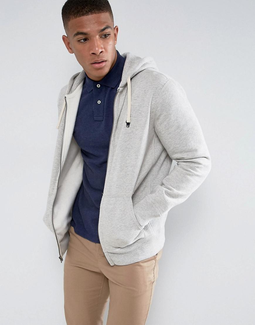 c6b34b615d3 Polo Ralph Lauren Plain Jersey Zip Up Hoodie In Grey in Gray for Men ...