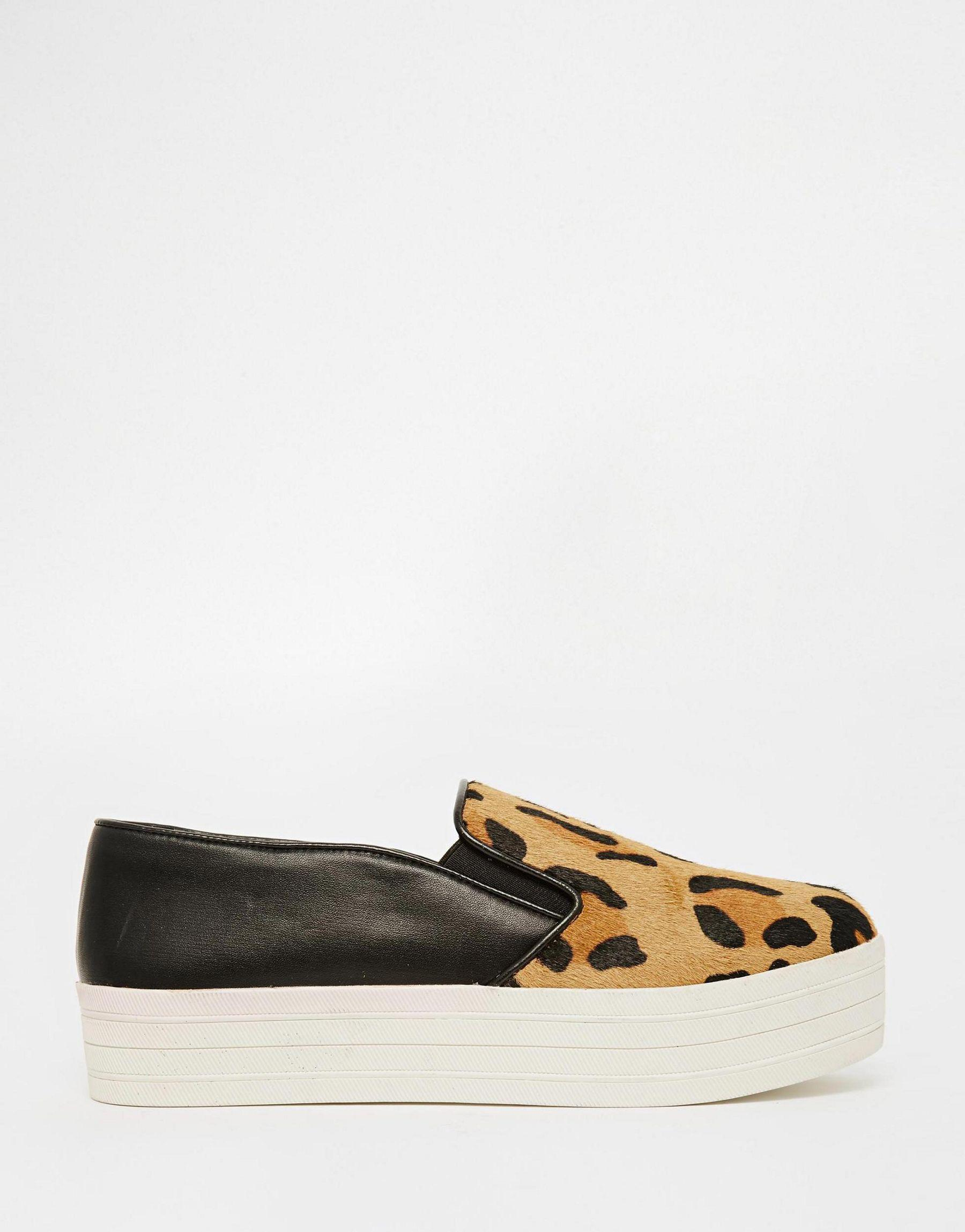 Buy Women Shoes / Steve Madden Buhba Animal Print Slip On Trainers