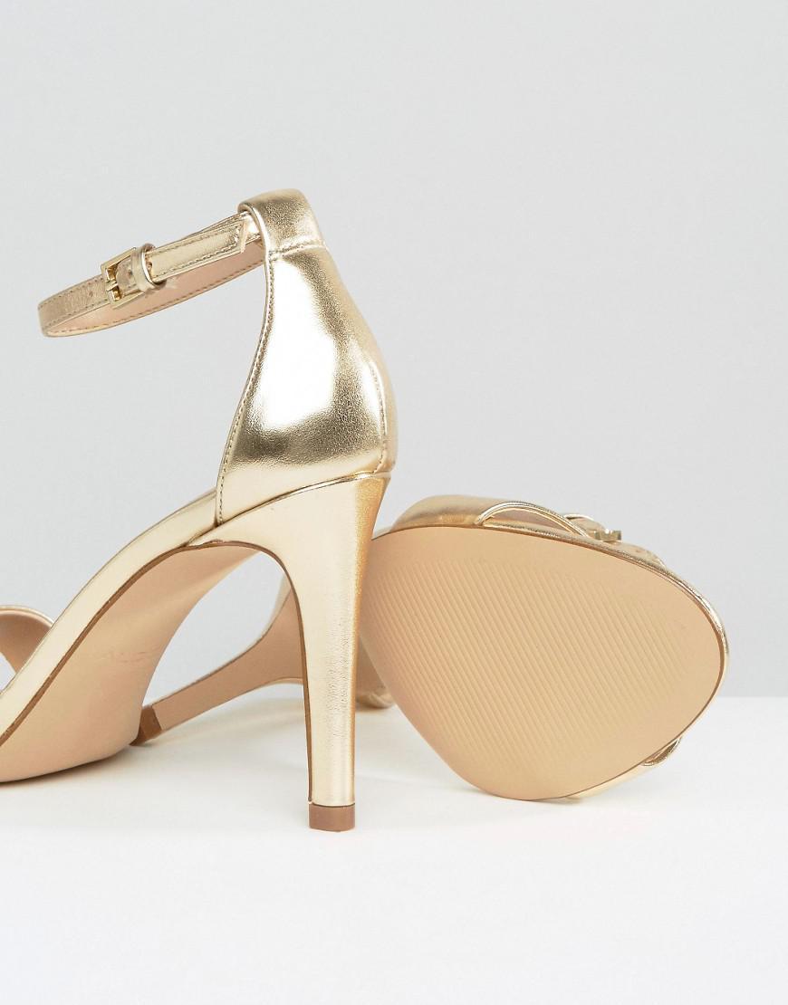 1268835ca5d ALDO Camy Gold Metallic Strap Sandals in Metallic - Lyst