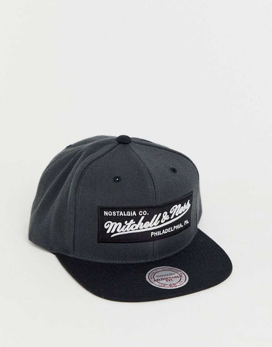 Mitchell   Ness Box Logo Snapback Cap In Black in Black for Men - Lyst e20bb45ed353