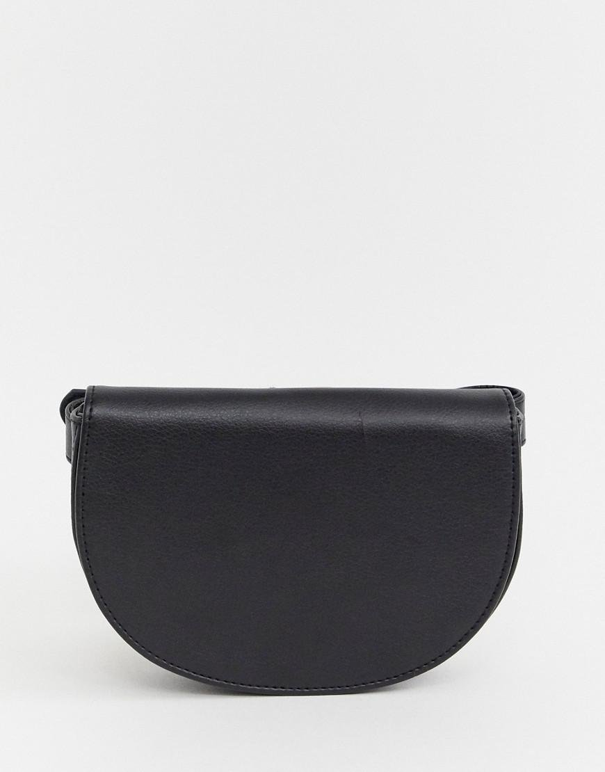 373a1de58ad ASOS Faux Leather Belt Fanny Pack In Half Circle in Black for Men - Lyst