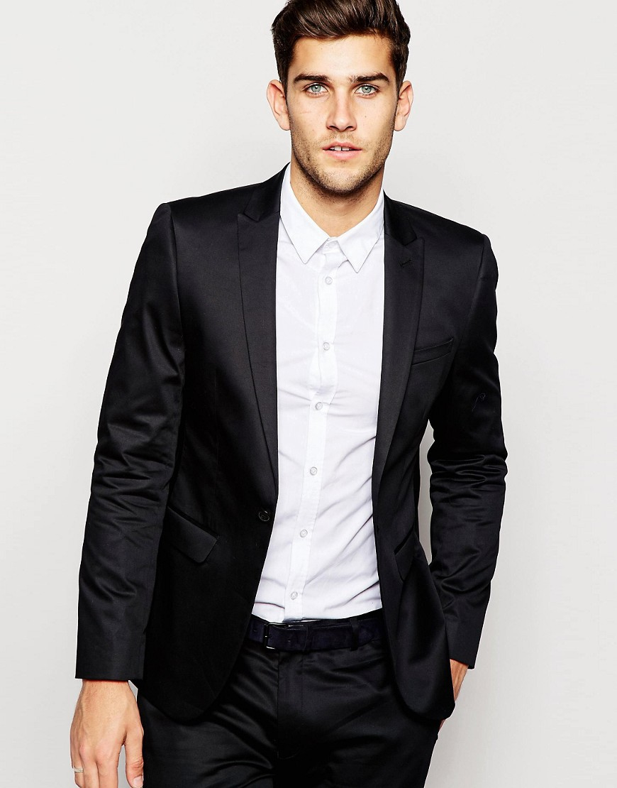 ASOS Men's Purple Skinny Blazer In Cotton See more ASOS Blazers. Subscribe to the latest from ASOS. Find on store. We check over stores daily and we last saw this product for $ 56 at ASOS. Go to ASOS Try these instead. ASOS Plus Knitted Blazer In Light Brown $56 $30 (45% off) ASOS ASOSPrice: $