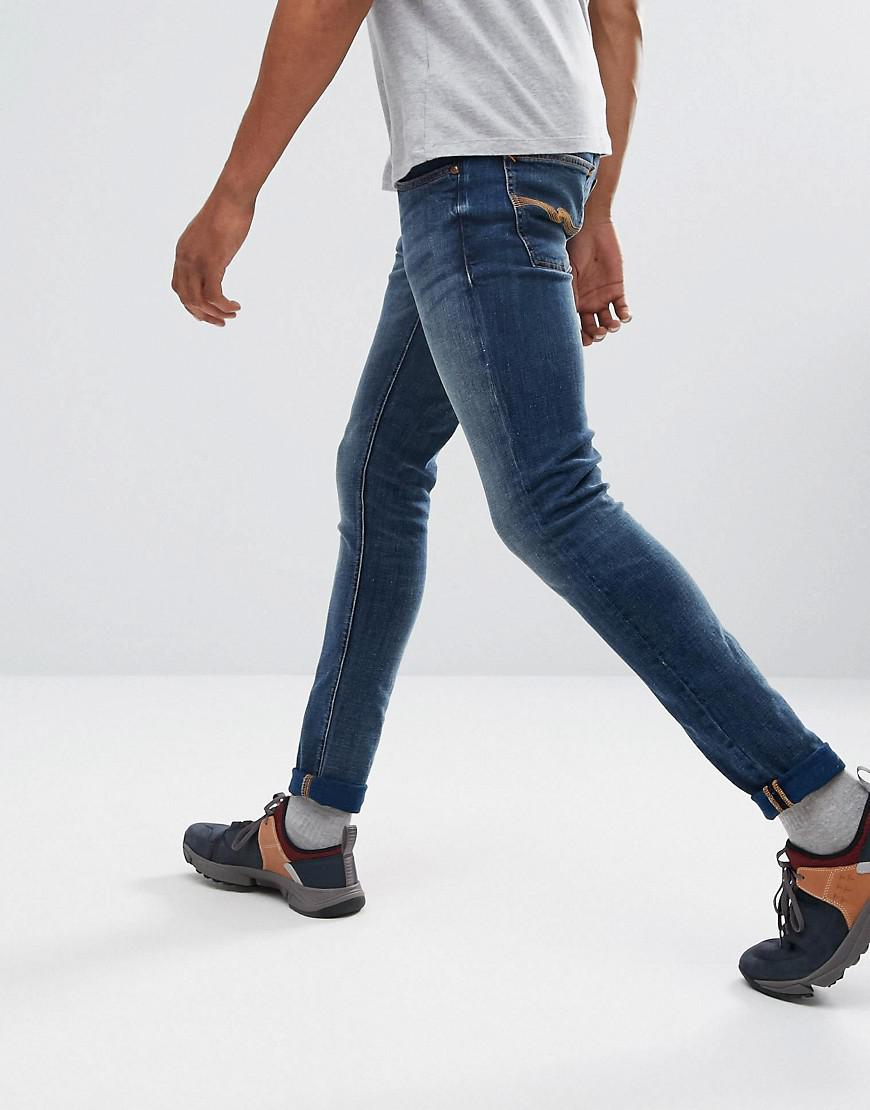 bbe7aa178f04 Lyst - Nudie Jeans Co Tight Terry Super Skinny Jean Double Indigo ...