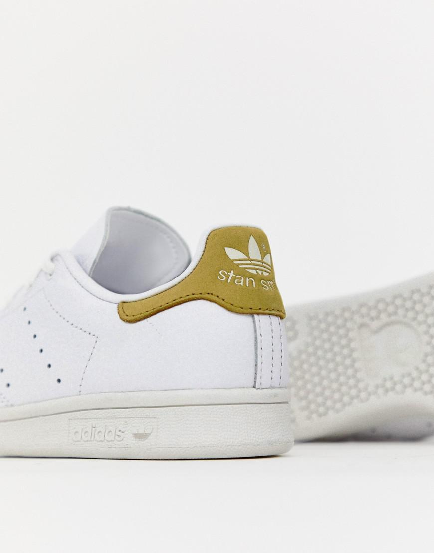 info for 9fc34 b4f23 adidas Originals White And Yellow Stan Smith Trainers in White - Lyst