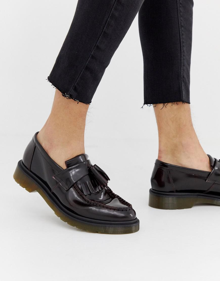 df9a925ca7c Lyst - Dr. Martens Adrian Tassel Loafers In Burgundy in Red for Men ...