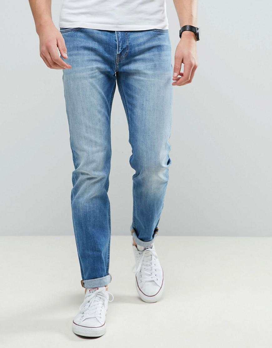 2a7ef55d Lee Jeans Arvin Regular Taper Jeans Worn In Wash in Blue for Men - Lyst