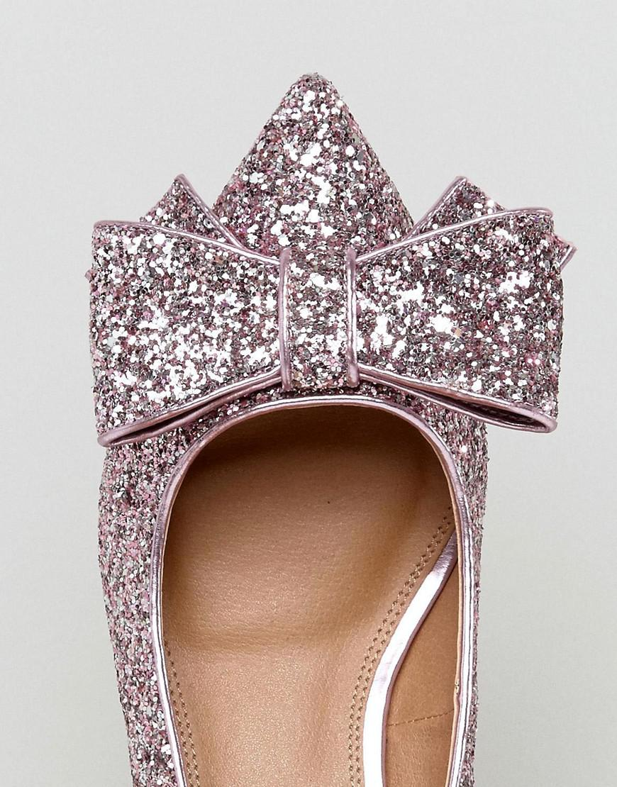 b0c9f1708e2 Lyst - ASOS Sacred Wide Fit Bow Mid Heels in Pink
