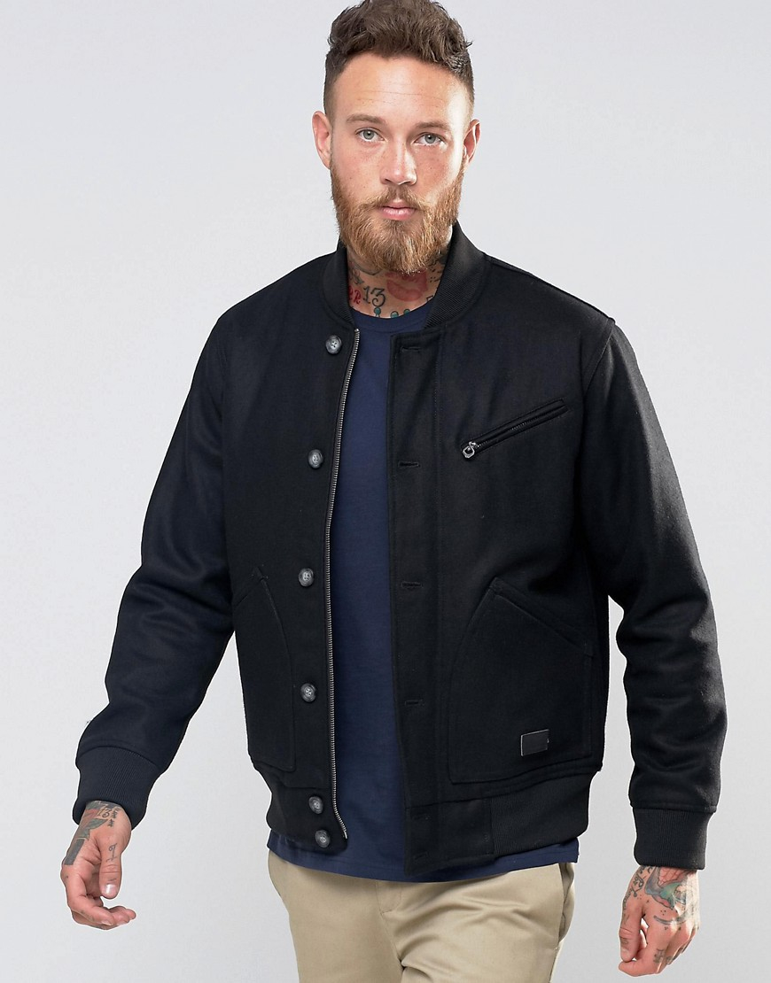 Lyst - Lee Jeans Bomber Jacket Black Woolrich In Black For Men