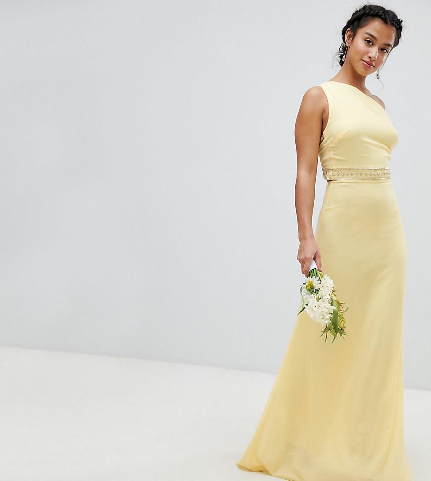 fbf2f3ee TFNC London Embellished Maxi Bridesmaid Dress in Yellow - Lyst