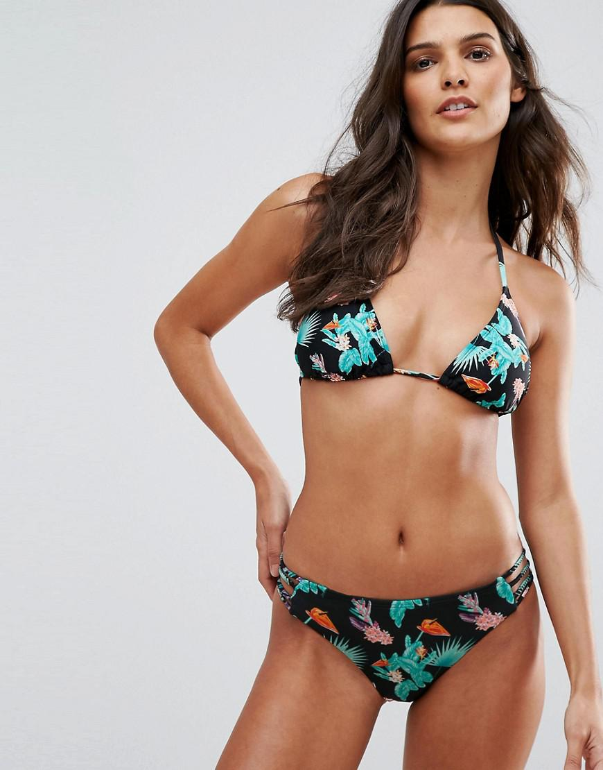 2c36385fb23 ... Multicolor Tropical Plant Print Triangle Bikini Set - Lyst. View  fullscreen