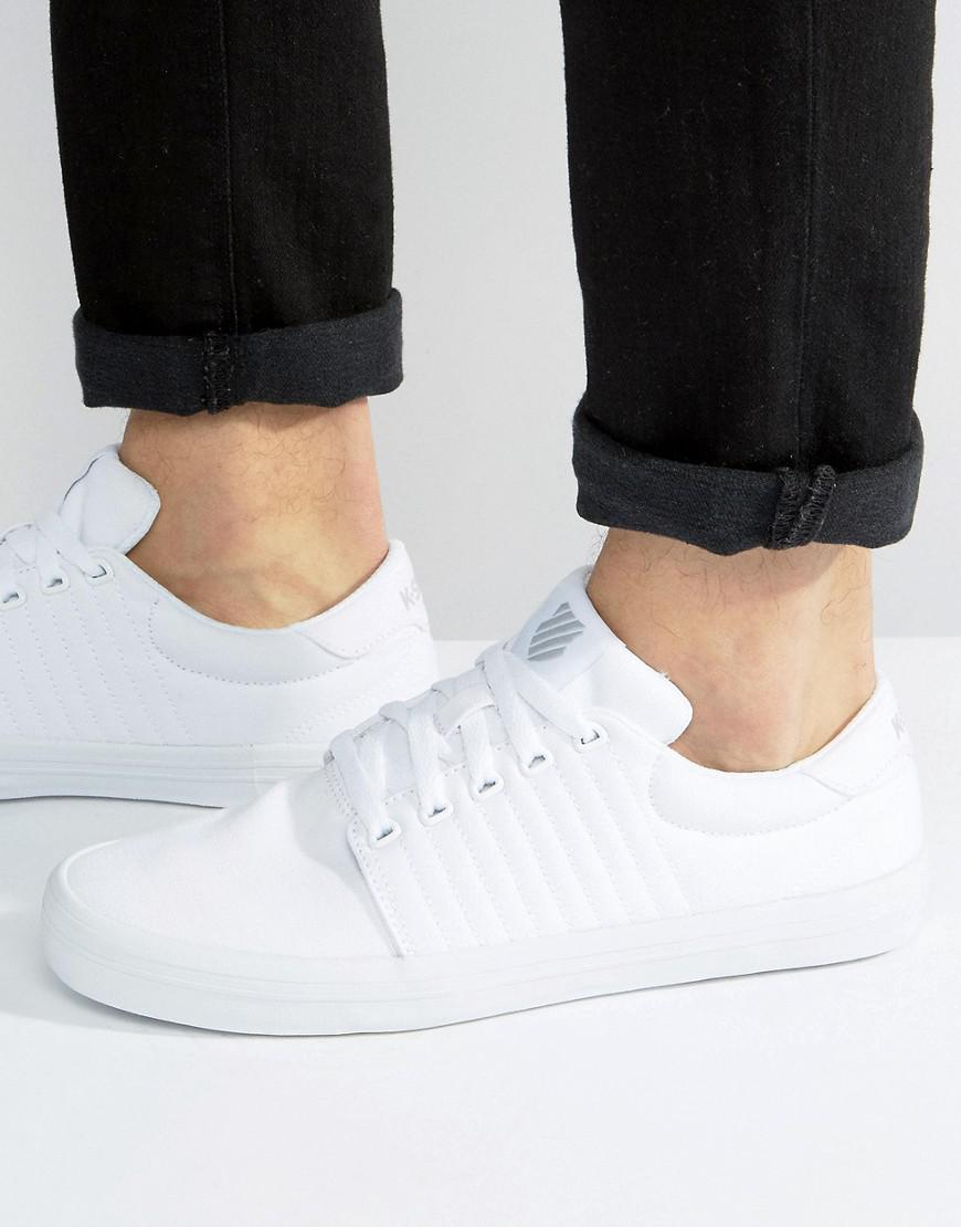 fashionable sale online K-Swiss Backspin Trainers In White outlet big discount 5zIdn