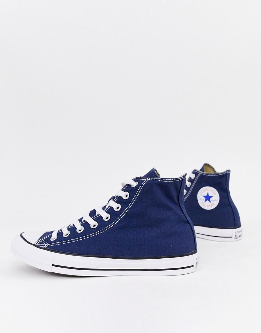 a2535ce43858 Lyst - Converse Chuck Taylor All Star Hi Plimsolls In Navy M9622c in ...