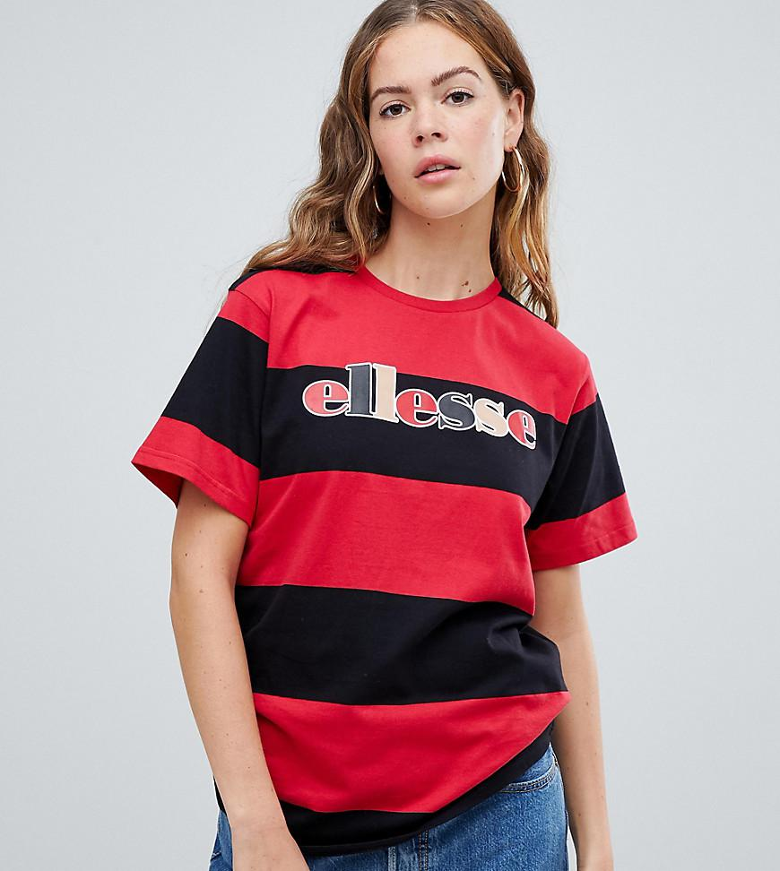 58d21a96e04 Lyst - Ellesse Relaxed T-shirt With Front Logo In Contrast Stripe in Red