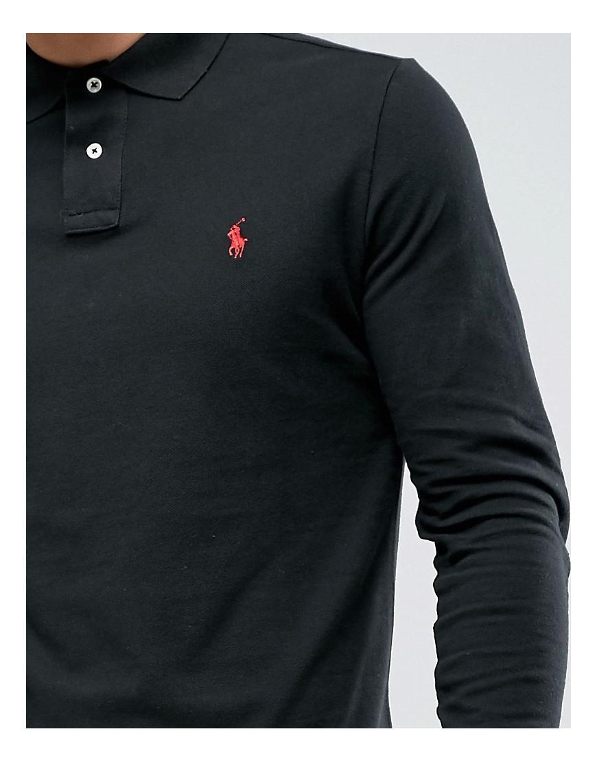 60f2bd466930 Polo Ralph Lauren Long Sleeve Polo Shirt In Custom Regular Fit in ...
