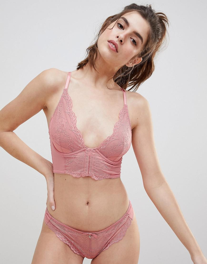 0005c7ae09 Gossard Superboost Apricot Lace Bralette B-g Cup in Pink - Lyst