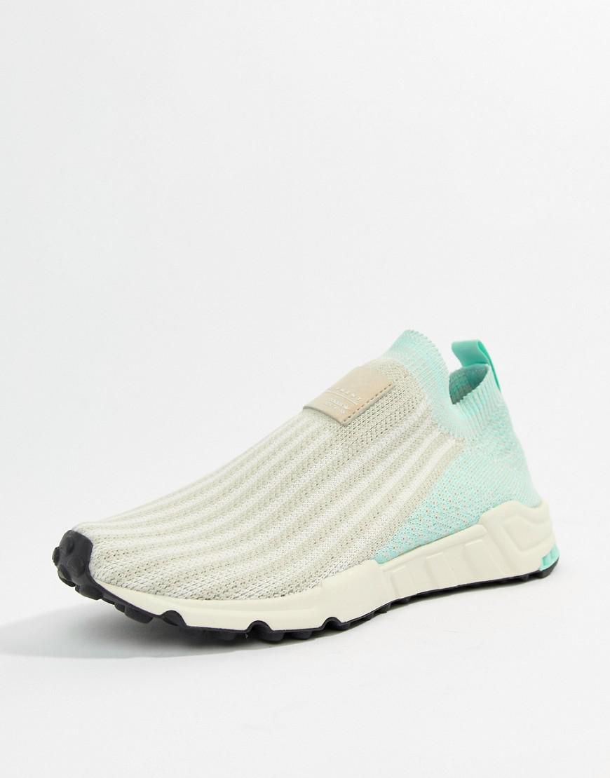 buy popular 55a83 7e9f5 adidas Originals. Womens Eqt Support Sock 13 Sneakers In White And Mint